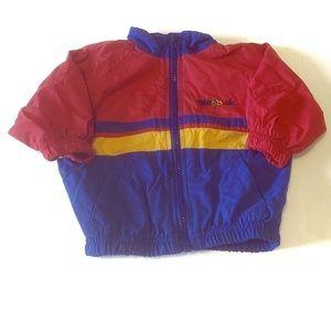 Retro weebok Reebok colorblock striped jacket